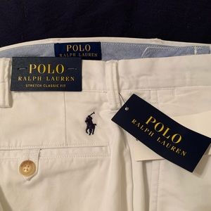 Polo White Stretch Chinos
